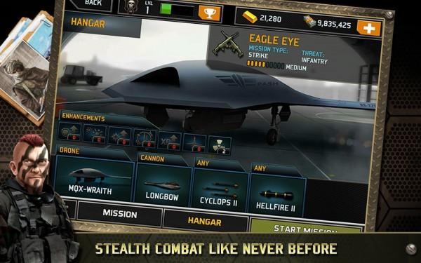 دانلود بازی هواپیما بی سر نشین Drone: Shadow Strike 1.3.09 اندروید