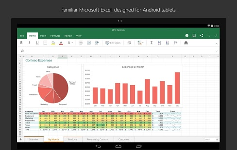 دانلود نرمافزار اکسل ماکروسافت Microsoft Excel v16.0.6027.1014 اندروید